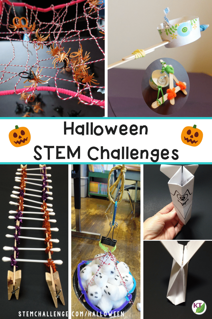Finding the right Halloween activities can be tricky, but Halloween STEM Challenges fit the bill perfectly! These highly engaging STEM activities keep your students focused on forces, simple machines, food chains, and more on the toughest of classroom days -- Halloween! Click through for more details on each Halloween STEM Challenge activity including video walk-throughs, extensions, and modifications for grades 2-8!