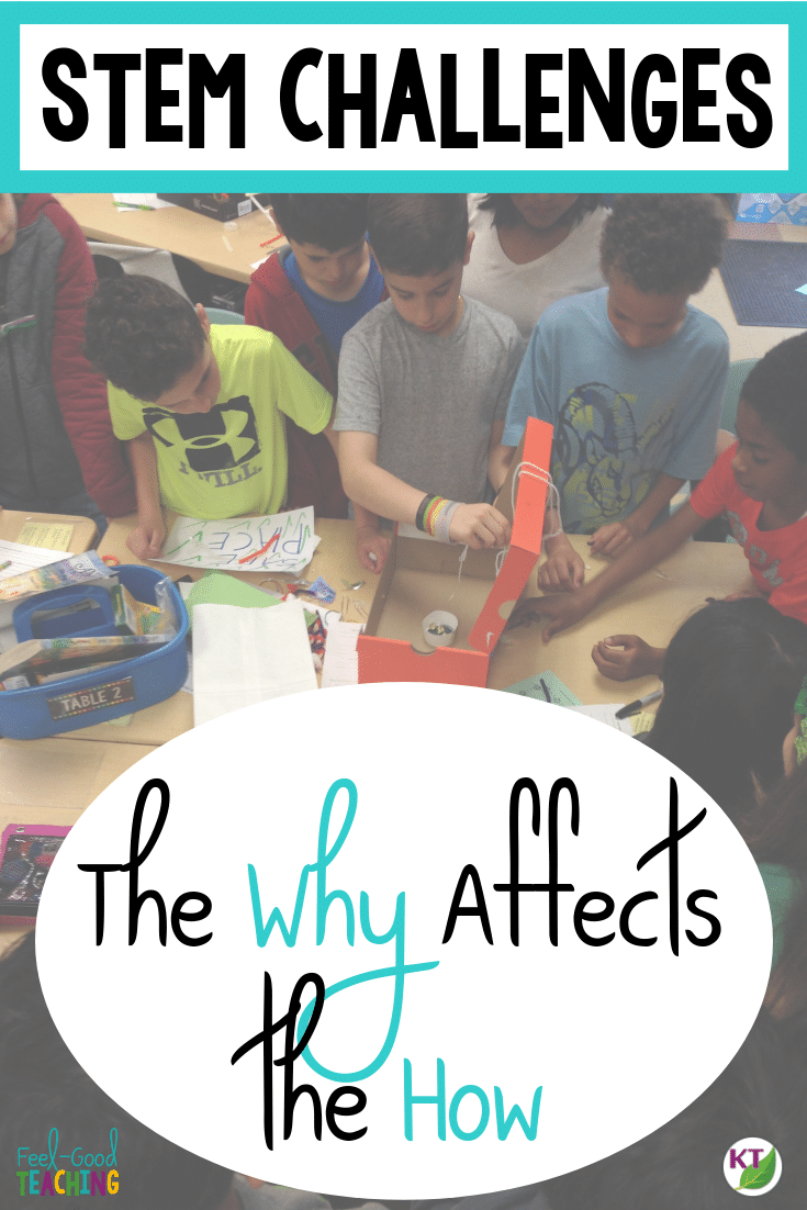 """Your STEM Challenge """"whys"""" should guide your STEM Challenge """"hows"""", but do they?! I've laid out some dos and don'ts for before, during, and after STEM Challenges and how they trace back to all the benefits I want my students to gain from doing STEM Challenges. Click through to see how my whys affect my how, and pick up some ideas for facilitating richer STEM Challenge experiences for your students!"""