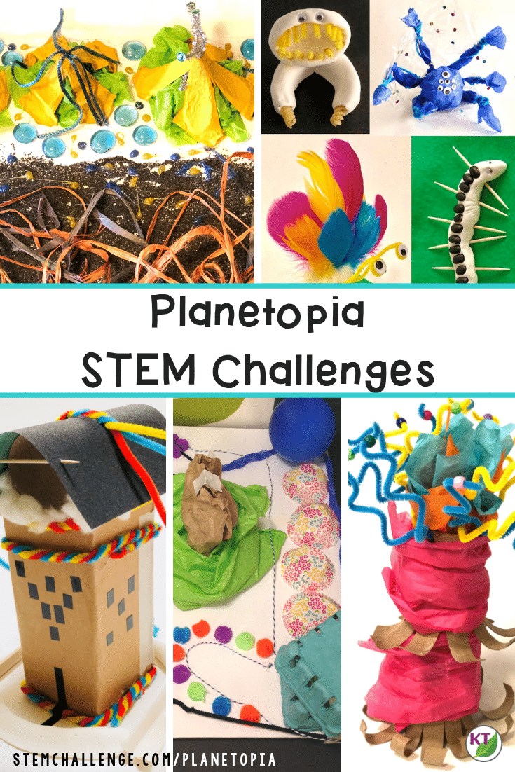 In these STEM Challenges, students design and build various items for the fictional planet, Planetopia. Challenges include extension opportunities on: landforms, plate tectonics, the water cycle, weather, natural disasters, plant parts, plant cells, animal cells, life cycles, heredity, genetics and more! Modification suggestions included for grades 2 - 8.