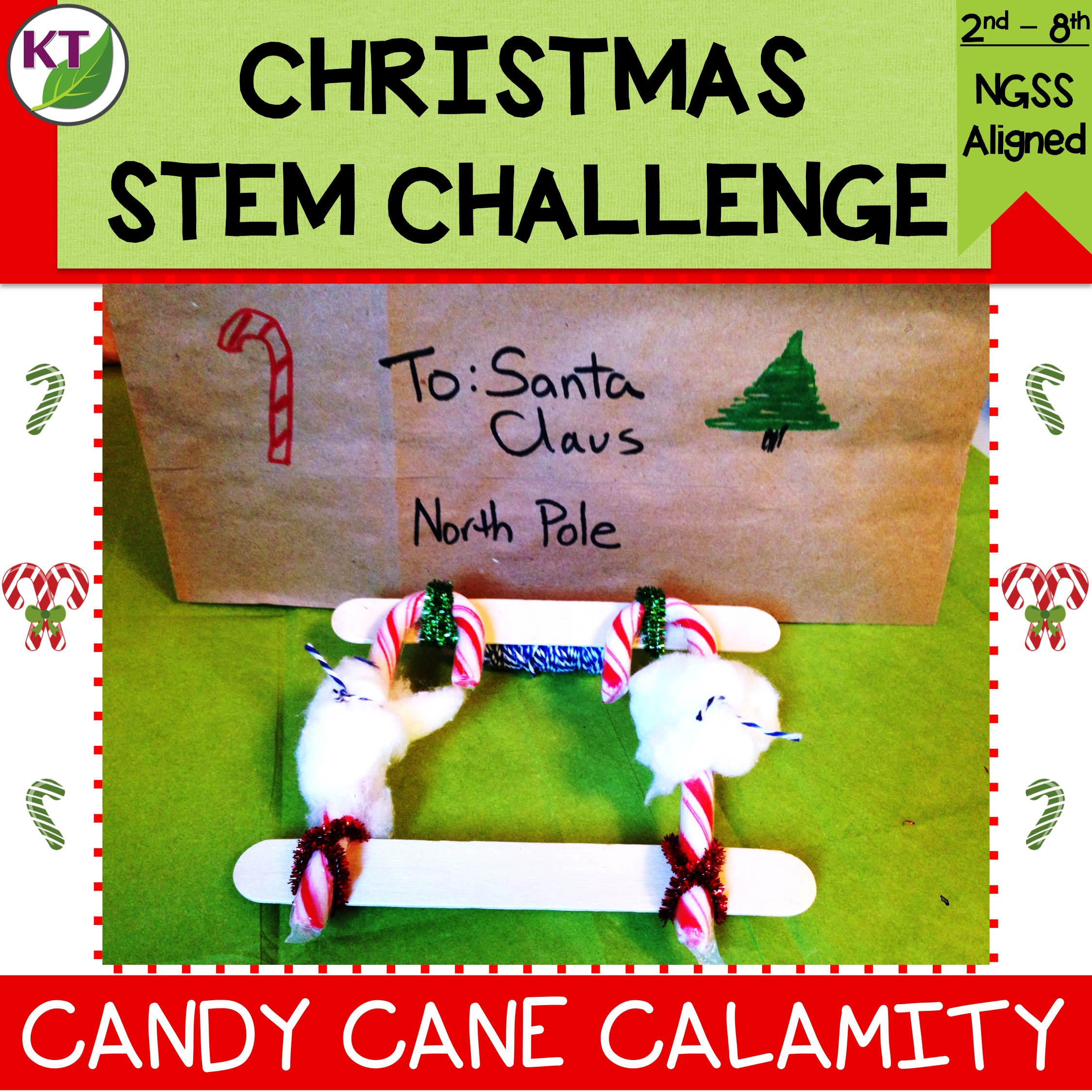 Christmas Stem Challenges.Candy Cane Calamity Christmas Stem Challenge