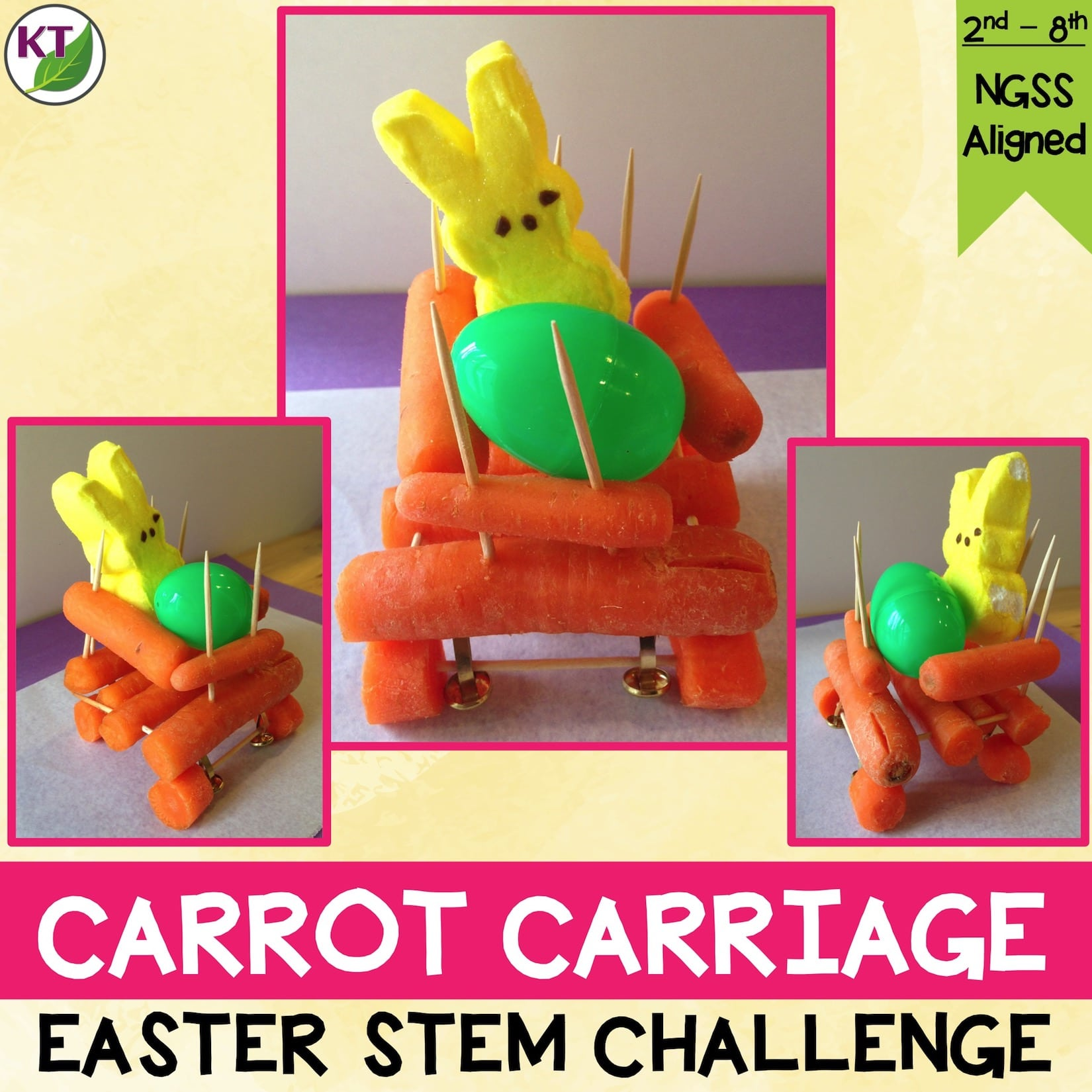 Carrot Carriage Easter Stem Challenge Stem Challenges