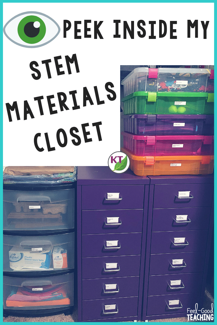 There's no way around it: If you love doing STEM Challenges, you've probably been challenged yourself to keep your mini warehouse of materials organized and accessible. Click through to the blog to see what I've got on hand and where I'm storing how I'm getting organized!