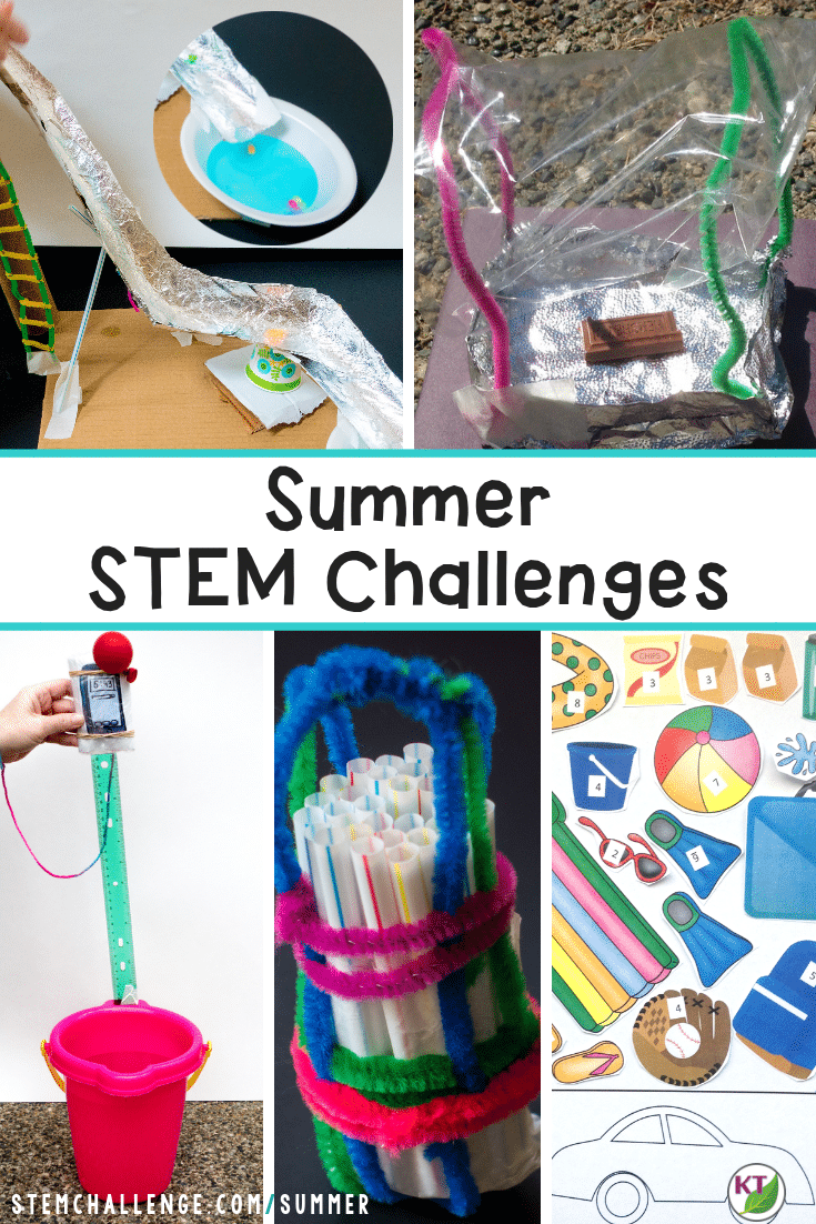 Summer STEM Challenges are the perfect end of year activities to keep your students engaged in problem-solving and critical thinking! Click through to the summer STEM hub page for five fresh and fun STEM ideas for the end of the school year, including blog posts, video walk-throughs and more for all five spring & Easter STEM Challenges! Modifications included for grades 2 -8.