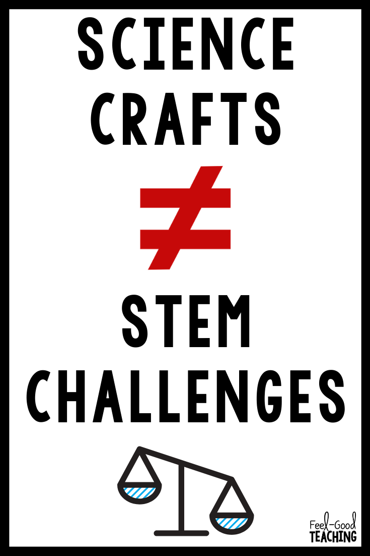 There's a lot of confusion out there about what makes a STEM Challenge a challenge and NOT a craft. Check out this blog post to find out what questions teachers need to be asking about their hands-on science activities.