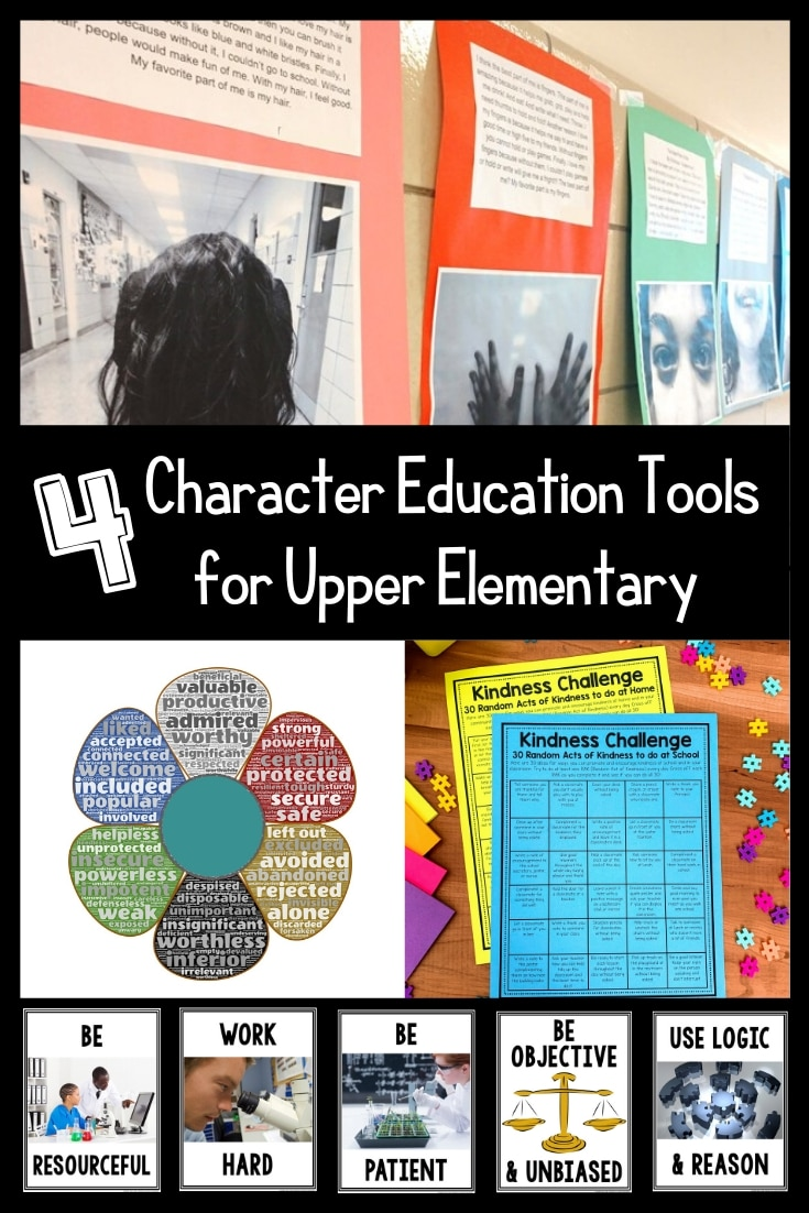 Character education is more important now than ever! Check out these other free ideas for your upper elementary students and let us do the planning for you with four easy to implement ideas!