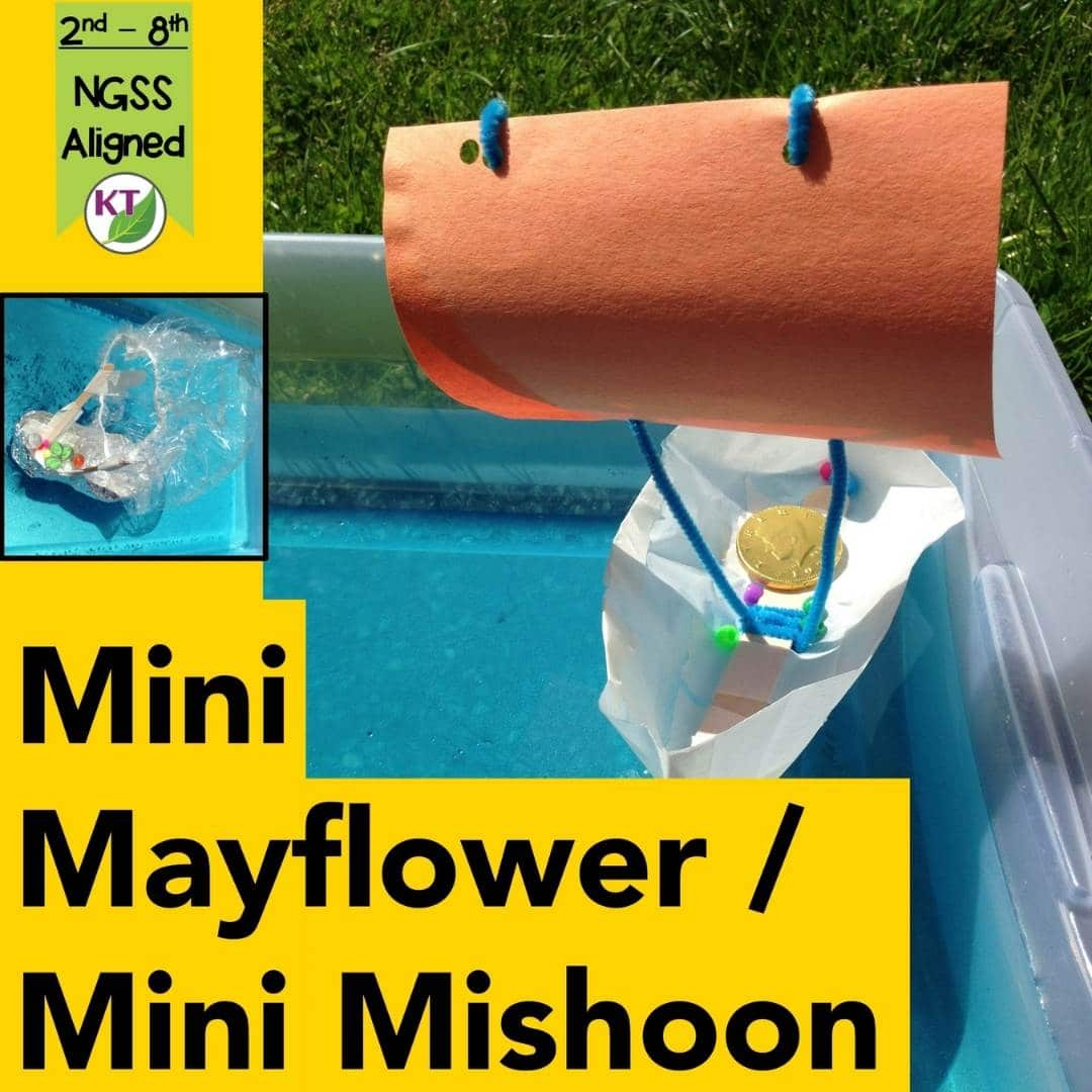 Mini Mayflower And Mishoon Thanksgiving Stem Challenge Stem Challenges